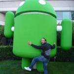Enrico With Android at MountainView