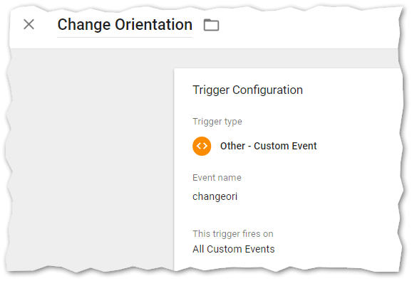 Universal Analytics Trigger