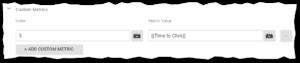 Custom Metrics Google Tag Manager