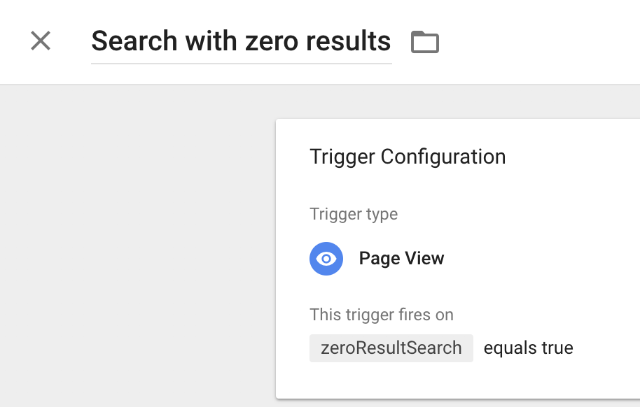 Search with zero results