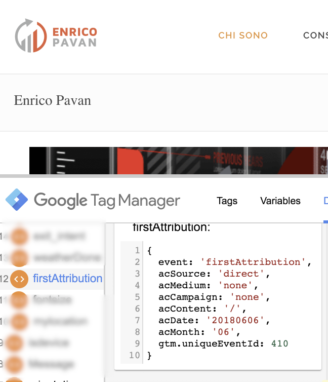 google tag manager datalayer