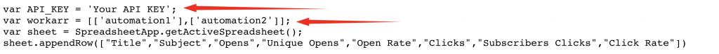 Google Spreadsheet Automations MailChimp