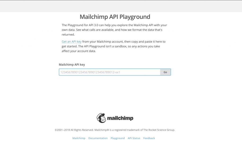 MailChimp API Playground