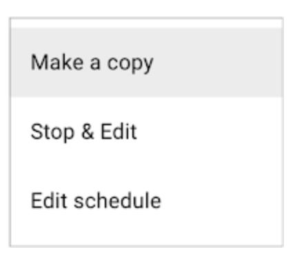 Google Optimize Management Option