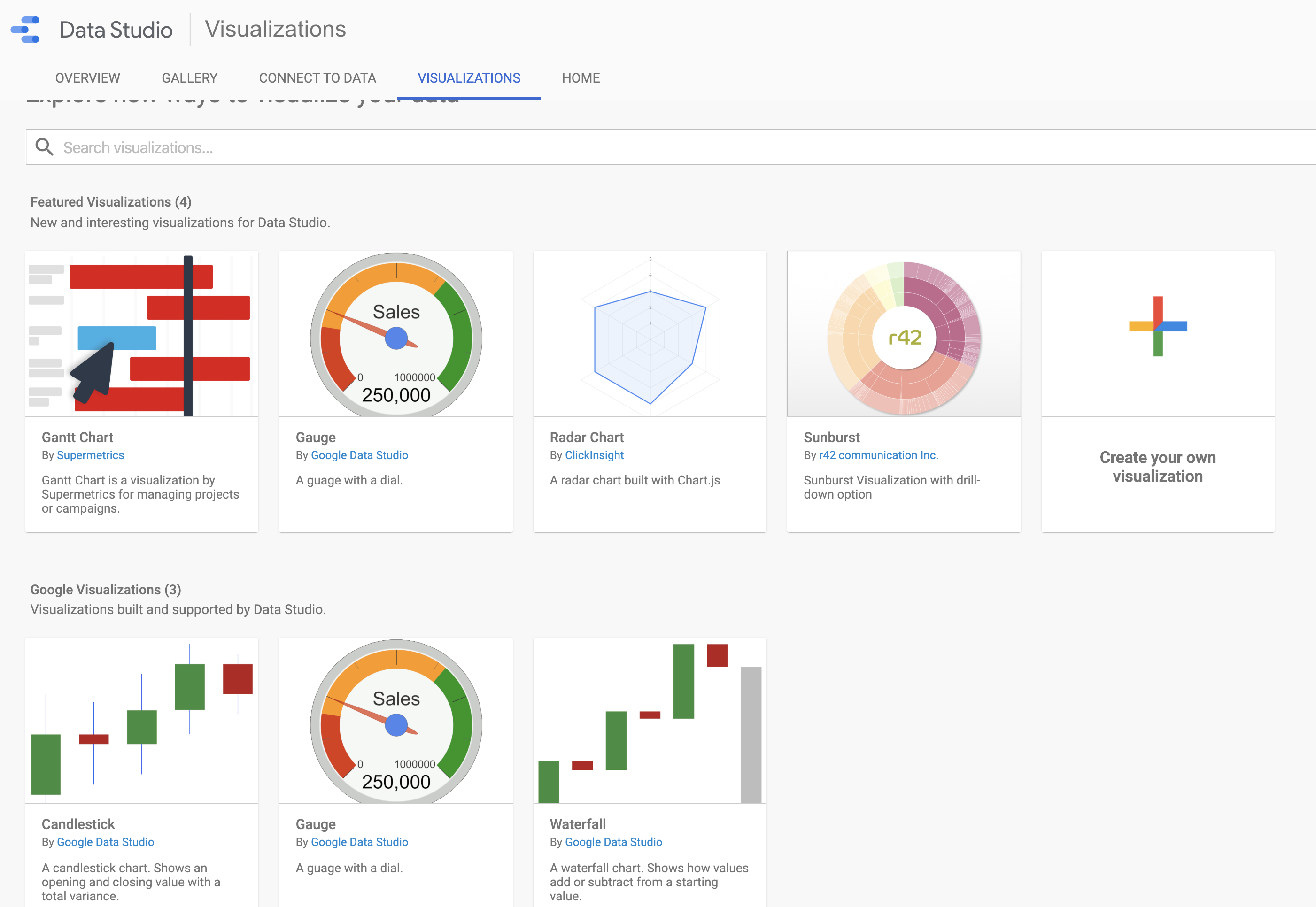 Custom Visualization Google Data Studio
