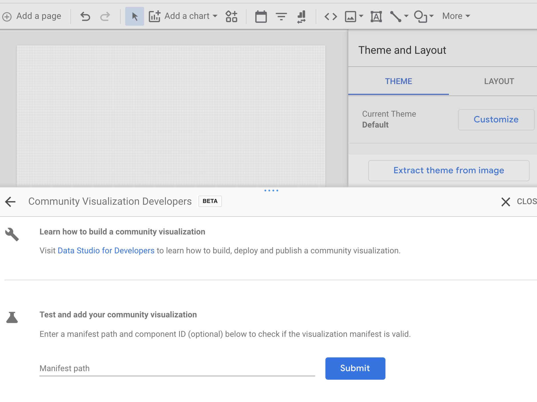 Import Custom Visualization Google Data Studio