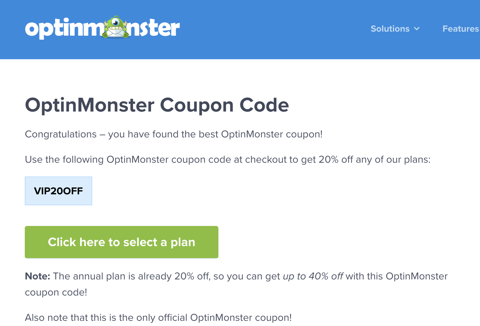 optin monster coupon