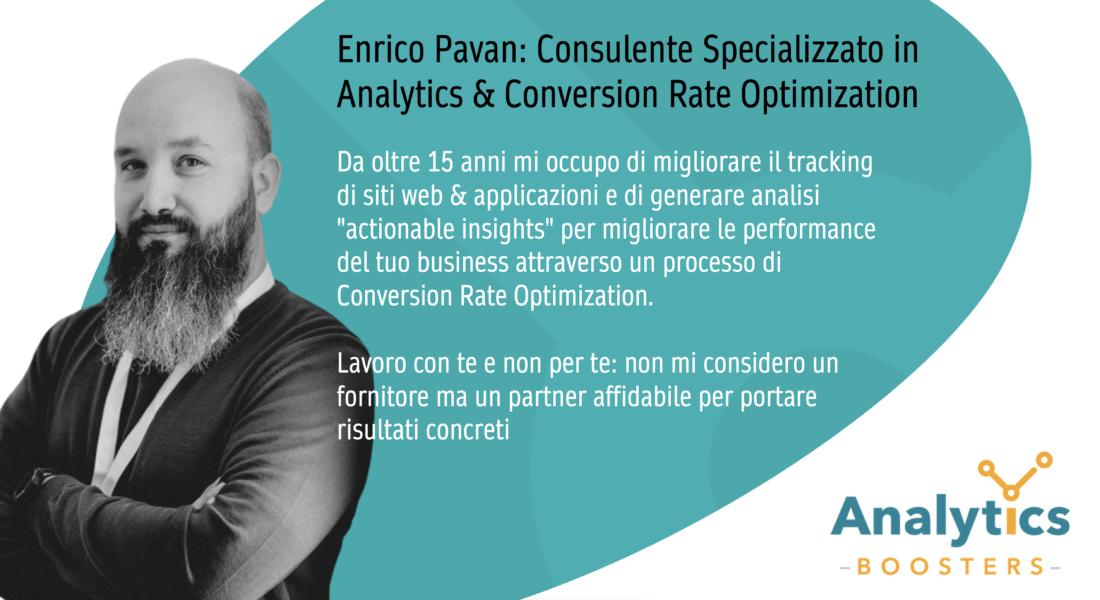 Enrico Pavan consulente specializzato in Analytics e CRO