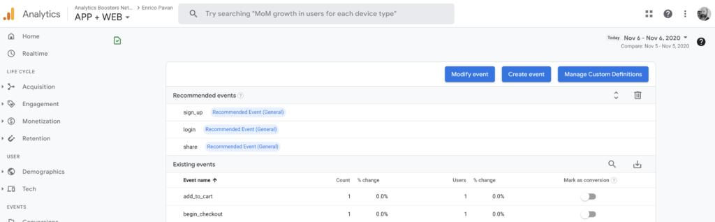Google Analytics 4 - All Events