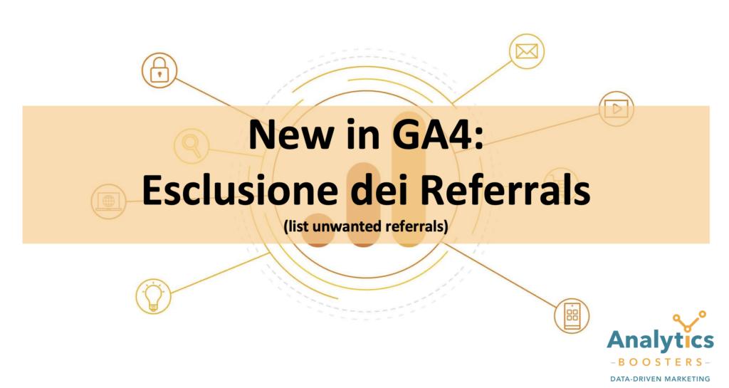 GA4 unwanted referrals