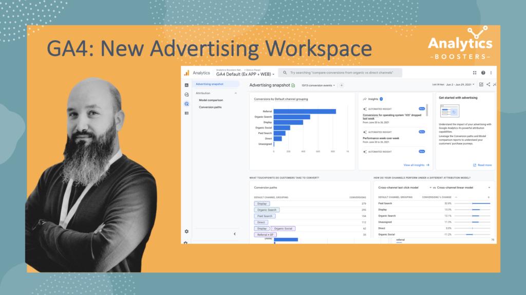 GA4 new advertising workspace